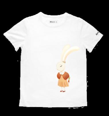 艺术T恤-情人节白色女款
