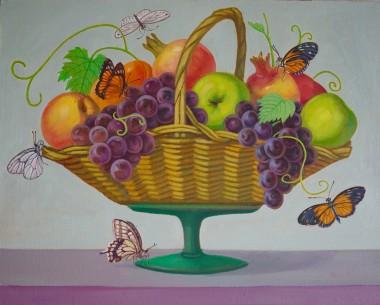 秋天的童话之花篮的果儿香