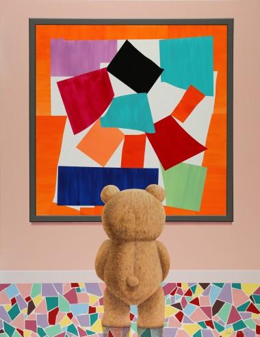 泰迪熊观看马蒂斯