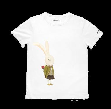 艺术T恤-情人节白色男款