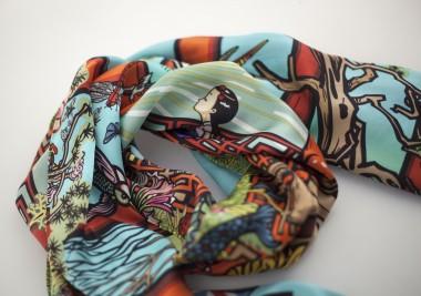 北京水深 丝巾