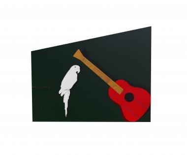 白鹦鹉和红吉他