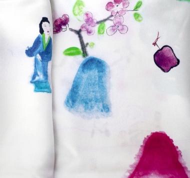 玩花  丝巾