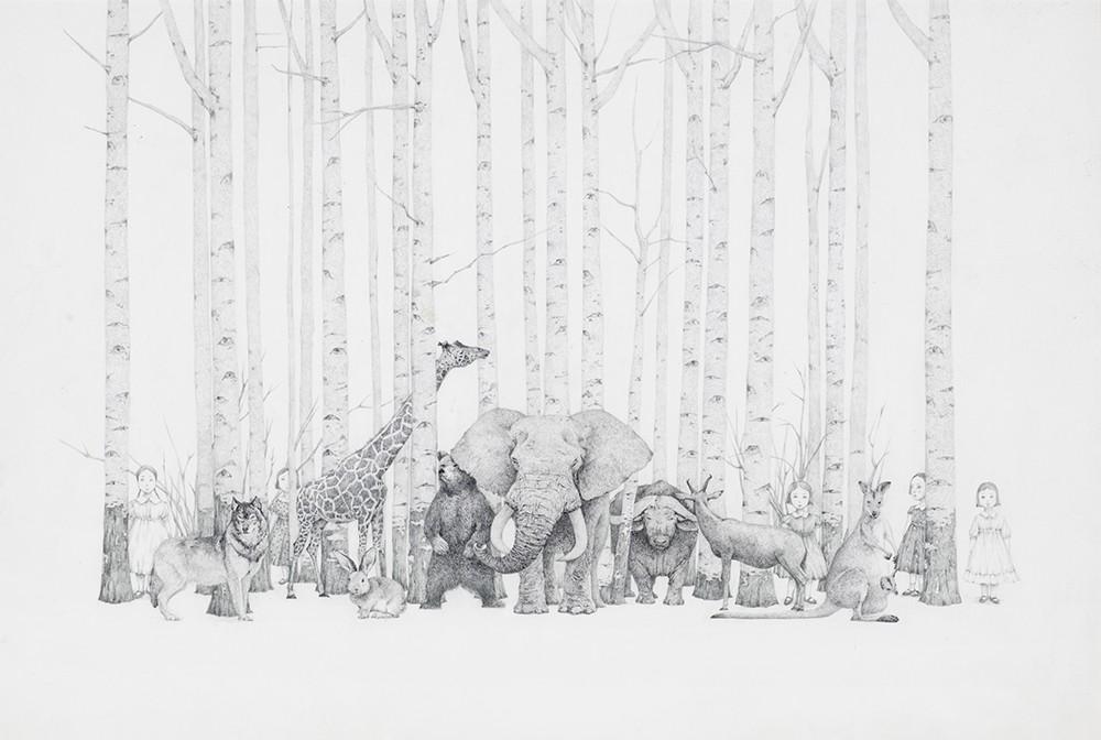 森林动物水彩笔全