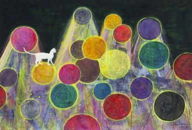 白猫与毛线球