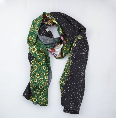 """Suddenly there's Snow Tonight"" Art Scarf"